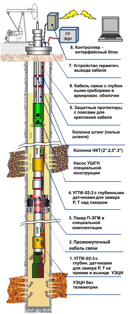 ШГН - ЭЦН с применением